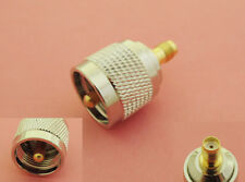 1 pcs Gold UHF PL259 Male Plug to SMA Female Jack Straight RF Adapter Connector
