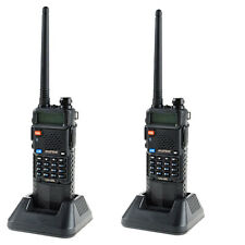 2 PCS Original Baofeng Dual Band UV-5R VHF/UHF Radio 3800mAh PTT Earpiece