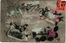 CPA SAINTE-SAVINE - Souvenir, fleurs, collage (179470)