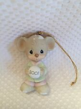 Precious Moments~ORNAMENT~520446~Dated 2001~MOUSE Snowball~Sno Ball Without YOU~