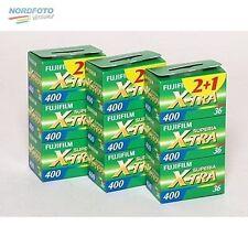 FUJI Superia 400, X-TRA 135-36, 3x Dreierpack = 9 Filme
