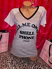 """Victorias Secret Pink T Shirt Miami """"Call You On My Shell Phone"""" Large"""