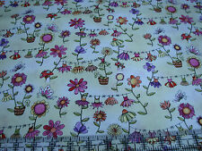 3 Yards Cotton Fabric - ITB Moon Cookie Butterfly Hollow Flower Clotheslines Grn