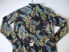 POLO RALPH LAUREN Men's 100% Linen Long-Sleeved Tropical Print Shirt S