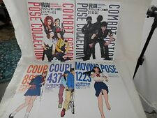 5 Anime Drawing Books Japanese Poses Moving, Couples 1 & 2, Combat Action 3 & 4