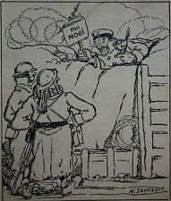 Dessin de presse, Poilu, Guerre 1914-18, Maurice Sauvayre, Drawing, WW1