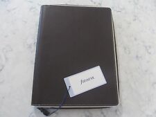 FILOFAX Domino A4 Zippered Folder--Zip Around---Chocolate Brown Leather -BNWT's