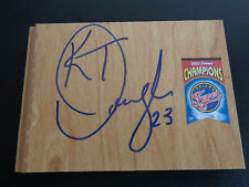 KATIE DOUGLAS Signed WNBA Floor Tile INDIANA FEVER Basketball FREE SHIPPING
