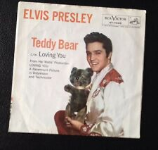 Elvis Presley 45 Record. Teddy Bear, Loving You W/sleeve. Nice!