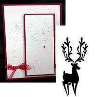 Christmas Embossing Folders - REINDEER IN CORNER - DARICE 1218-113 Holidays New