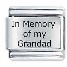 In memoria delle mie Grandad-DAISY da JSC accoppiamenti Classic Taglia Italiana Bracciale con Charm