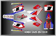 Honda CR125 - 250 00-01  cr125r cr250r SEMI CUSTOM GRAPHICS KIT HRC