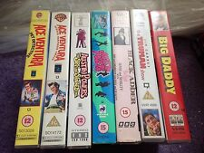 VHS Comedy Bundle X7 Video Tapes Big Daddy Austin Powers Ace Ventura Blackadder