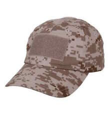 Rothco Desert Digital Tactical Operator Cap w/ black and khaki flag patch