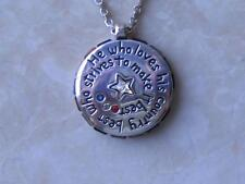 "~Brighton Necklace..""Bless America"" Two Sided w Quotes Crest w Crystals!~"