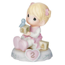 New PRECIOUS MOMENTS Figurine GROWING IN GRACE Age 2 Baby Girl Birthday Game Fun
