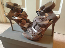 *NEW* SOLD OUT ZARA GREY SUEDE SILVER STUD STRAPPY SANDALS UK 37 RRP £89