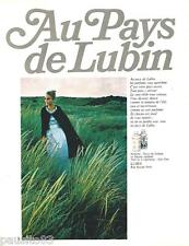 PUBLICITE ADVERTISING 105  1967  LUBIN  parfums GIN FIZZ NUIT DE LONGCHAMP