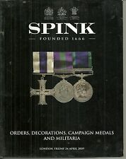 Spink Auction Caralog Orders Decorations and Campaign Medals Apr 24 2009