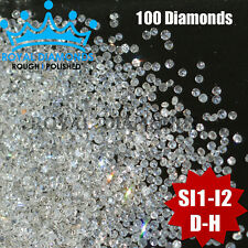 100% Natural Loose Round Single Cut 100 Diamonds SI-I D-H(White) Brilliant Good
