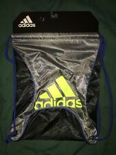 ADIDAS  GYM SACK  BACKPACK SILVER / BLACK / Neon Green