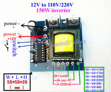 DC-AC Converter 12V to 110V 220V 175V AC 150W Inverter Boost Board Transformer