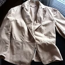 MICHAEL KORS WOMEN'S KHAKI SINGLE BUTTON JACKET SIZE- 2