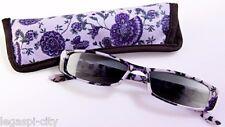 Trendige Damen Sonnenbrille mit +3,5 Dioptrien Brille Kunststoff Lila (Flieder)