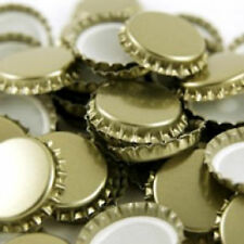 29mm Champagne and European Bottle Caps (Gold), 100-Count