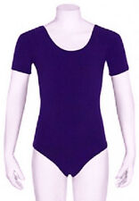 Mondor 496 Violet Child's Large (10-14) Short Sleeve Leotard