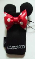Black and Red Small Mobile Phone Cover with Disney Minnie Mouse detail