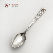 Engraved Floral Demitasse Spoon Applied Copper Beetle Dominick And Haff Sterling