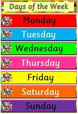 ELMER-Days of the week POSTER-  teaching resource -home/class/display