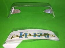 "Lambretta Series 3 ""LI 125"" Rear Frame Badge & Holder - Top Quality"