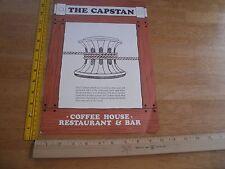 The Capstan restaurant 1973 breakfast menu Queen Mary CA