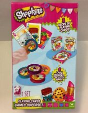 NEW SHOPKINS 3 DECK PLAYING CARDS SET CRAZY EIGHTS GO FISH RUMMY SNAP TOY GAME