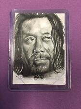 STAR WARS ROGUE ONE SERIES ONE BAZE MALBUS SKETCH CARD BY KYLE BABBITT