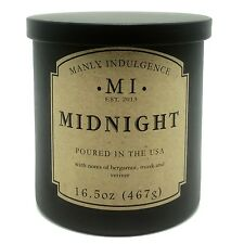 Manly Indulgence Midnight Scented Candle Notes of Bergamot, Musk and Vetiver