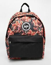 Hype Backpack Master Piece, Lilies, Flowers, Red Black Bag Rucksack School - NEW