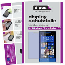 2x Windows Phone 8s by HTC protectoras TRANSPARENTES para protector de pantalla Lámina invisible