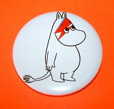 LARGE DAVID BOWIE ALADDIN SANE MOOMIN TROLL BUTTON PIN BADGE