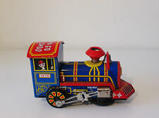 Scarce 1960's Tin Plate Wind Up Toy Train - Ko Yoshiya Japan Works - Very Clean