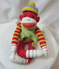 NWT Sherman Monkeez Seasons of Cannon Falls Sock Monkey Colorful Scarf Hat Cute