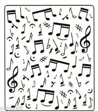 Crafts Too 12.7cmx15.0cm Embossing Folder MUSICAL NOTES CTFD3029