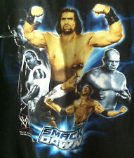 WWE Smackdown 2007 Boys Medium T Shirt Undertaker Great Khali Kane MVP Batista