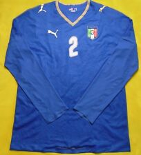 5/5 ITALY NATIONAL 2008~2009 PLAYER ISSUE HOME FOOTBALL SHIRT JERSEY PUMA #2