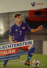 off. Programm WM Qu. 12.11.2016 Liechtenstein - Italien Italy Italia