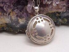 VINTAGE in argento tondo ciondolo & Catena Rennie Macintosh design insolito