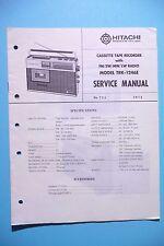 Service Manual-Istruzioni per Hitachi trk-1246, ORIGINALE