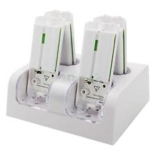 New Model 4 Charger Charging Dock Station + 4 Rechargeable Battery For Wii White